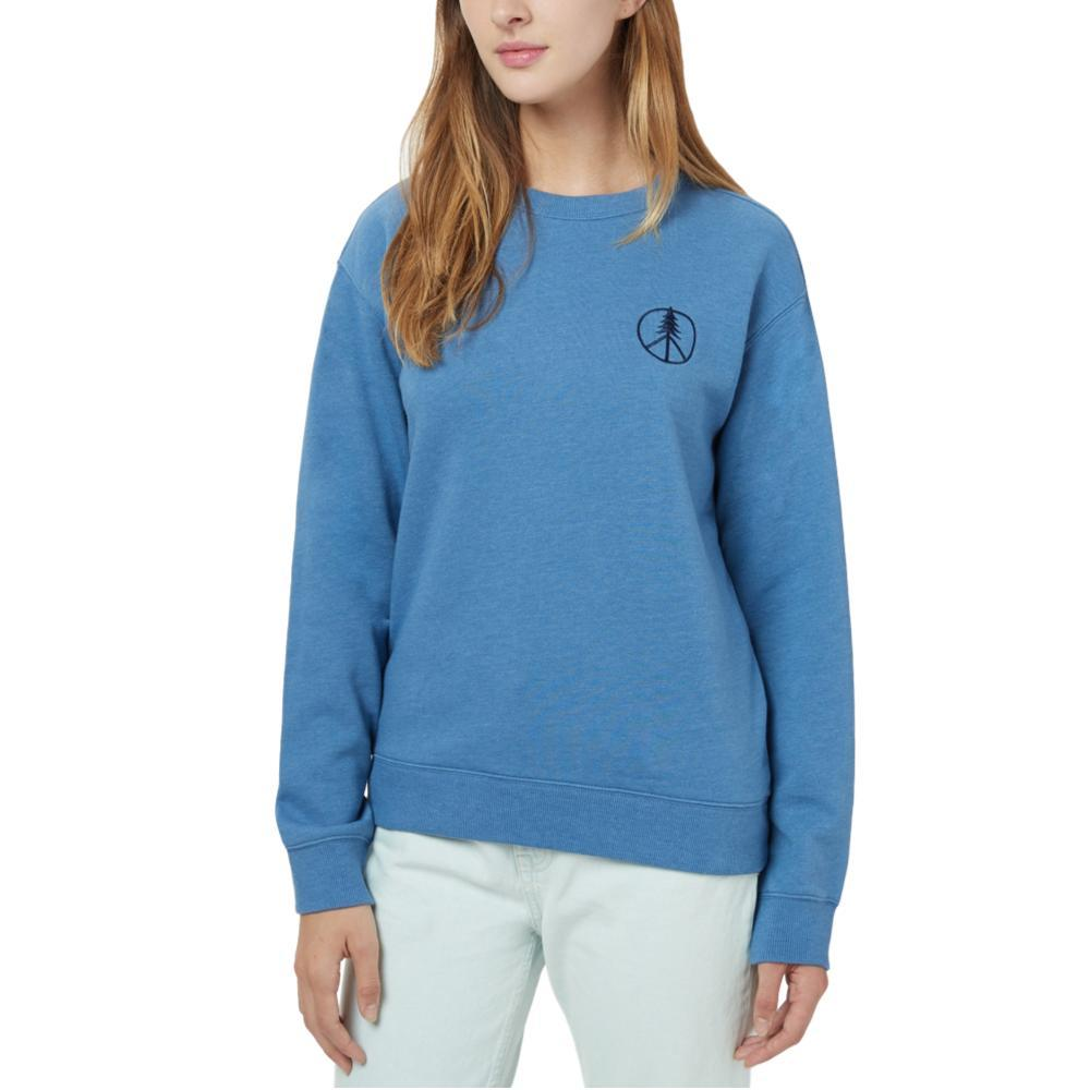 tentree Women's Peace Tree Long Sleeve Crew Shirt BLUEJAY