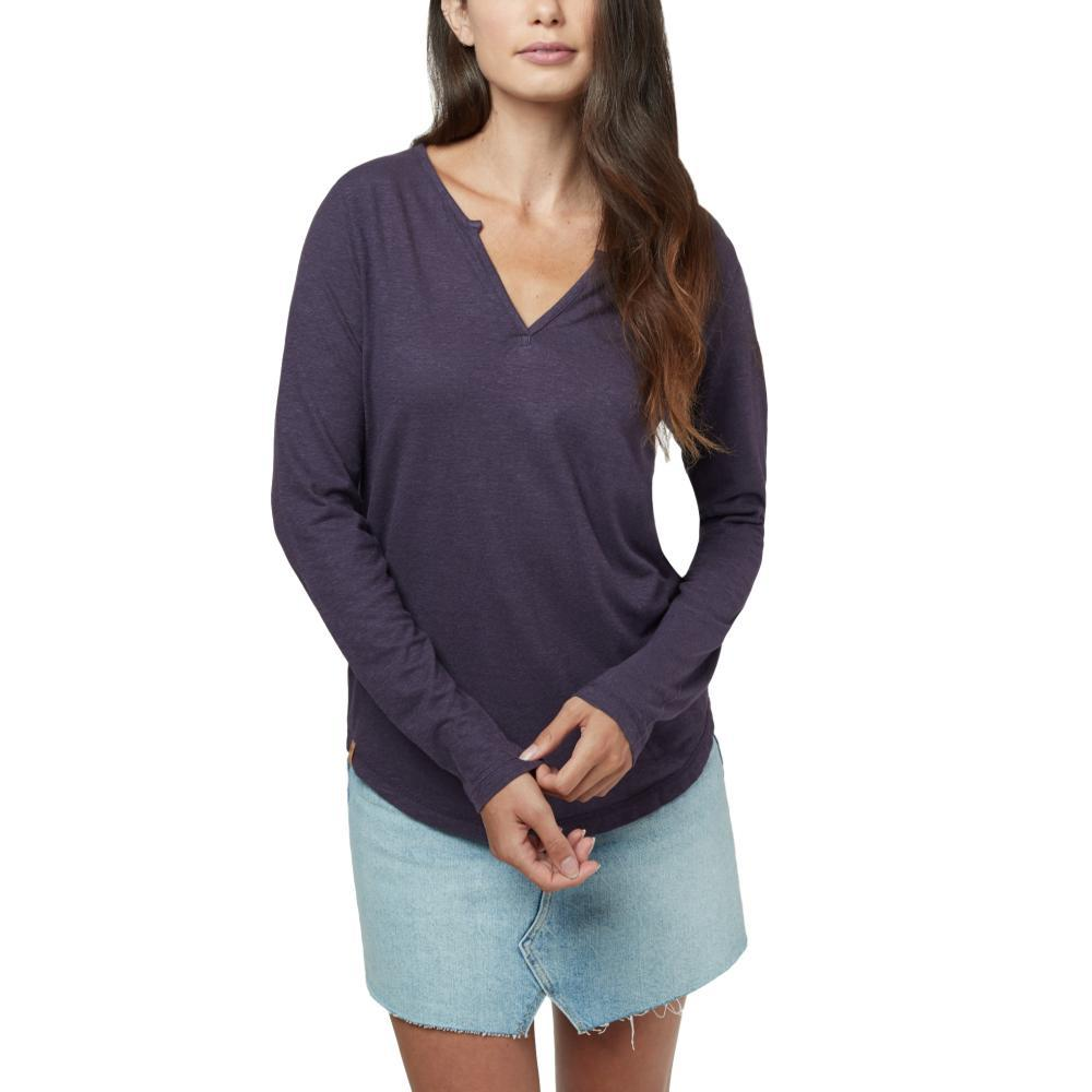 tentree Women's Moraine Long Sleeve Top AUBERGINE