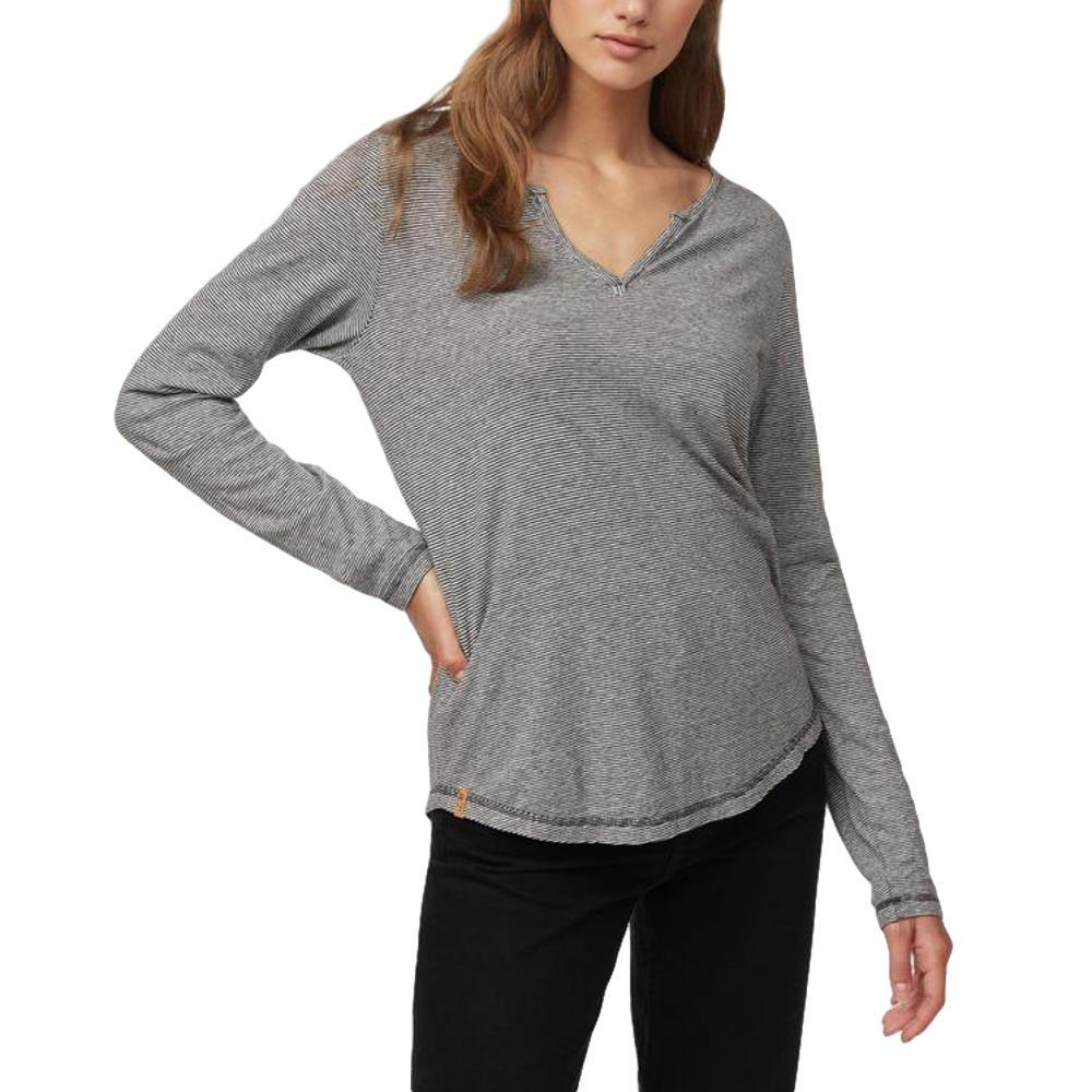 tentree Women's Moraine Long Sleeve Top ELMSTRIPE