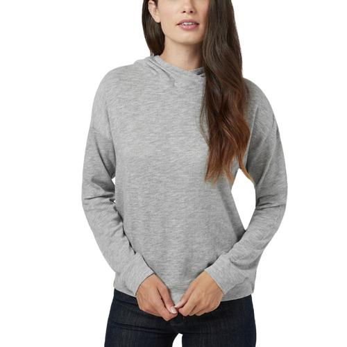 tentree Women's Burney Knit Hoodie Risegrey