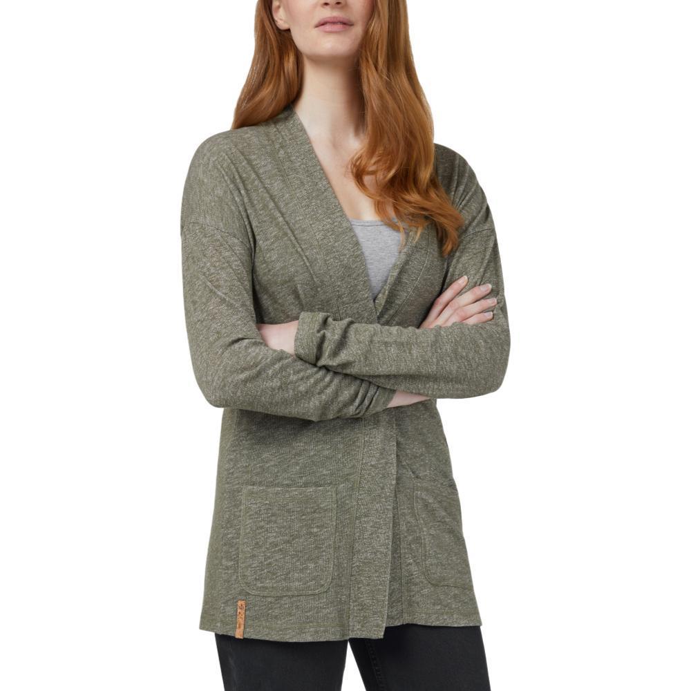 tentree Women's Alouette Long Sleeve Cardigan OLIVE