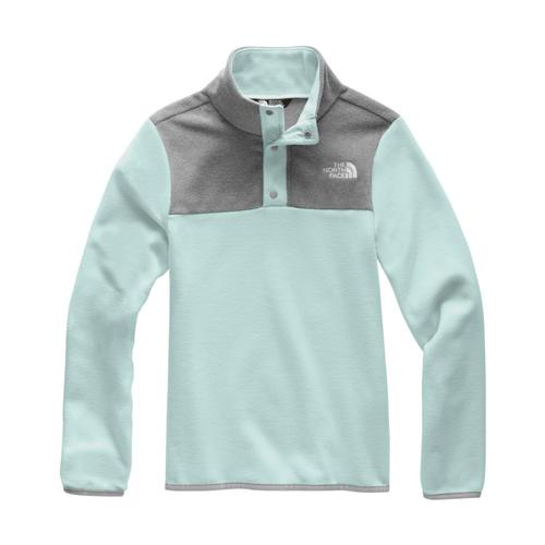 The North Face Girl's Glacier 1/4 Snap Fleece Wndblu_rt5