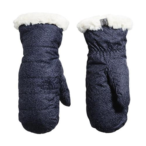 The North Face Girls Reversible Mossbud Swirl Mitts Bluden_fv4
