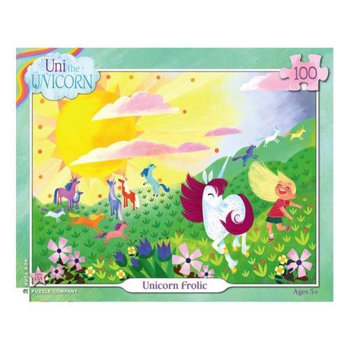 New York Puzzle Company Unicorn Frolic Puzzle