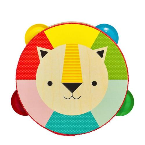 Petit Collage Kaleidoscope Lion Wooden Tambourine