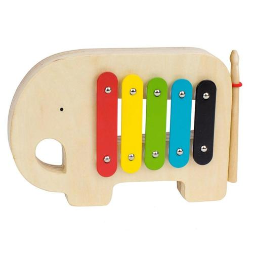 Petit Collage Elephant Wooden Xylophone Musical Toy
