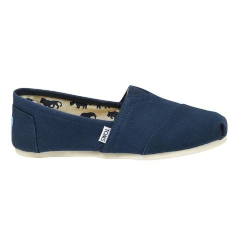 TOMS Men's Classic Canvas Shoes - Navy Navy