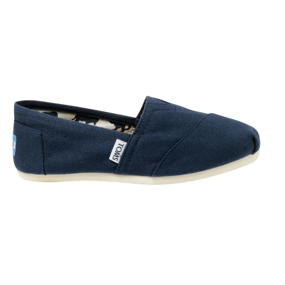 TOMS Women's Classic Canvas Shoes - Navy NAVY