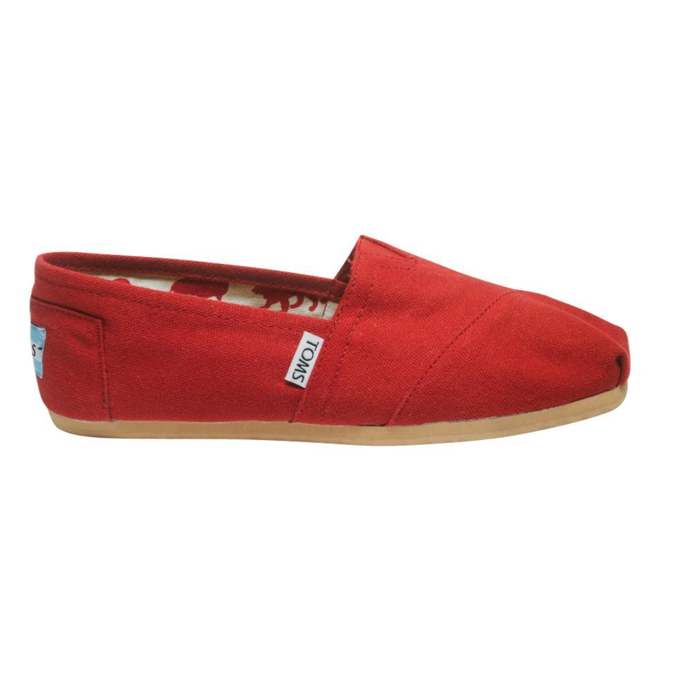 TOMS Women's Classic Canvas Shoes - Red RED