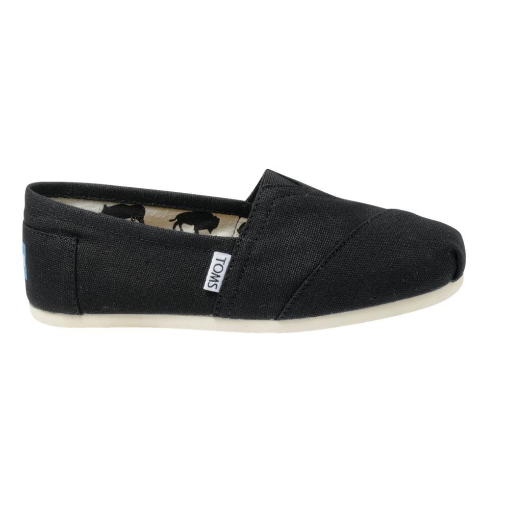 TOMS Women's Classic Canvas Shoes - Black BLACK