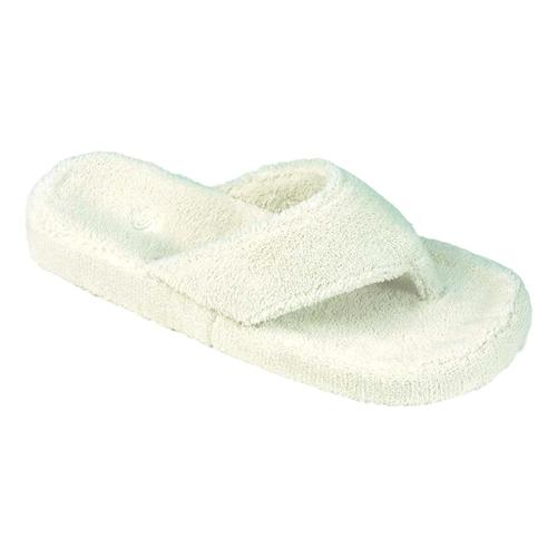 Acorn Women's Spa Thong Terry Slippers Natural
