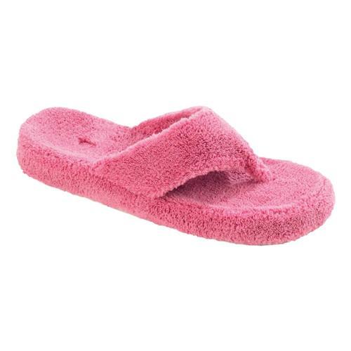 Acorn Women's Spa Thong Terry Slippers Azalea
