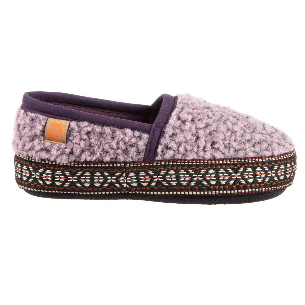 Acorn Kids Lil Woven Trim Moccassin Slippers IRIS