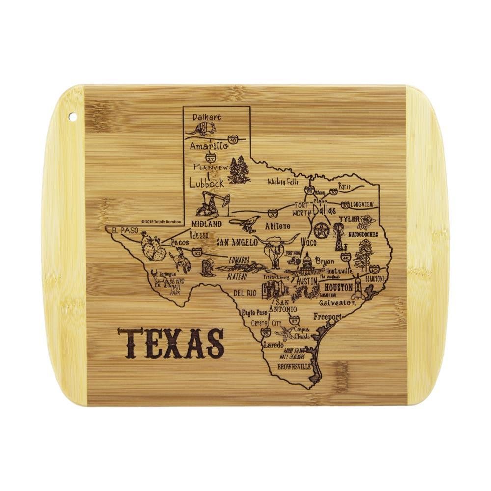 Totally Bamboo A Slice Of Life Texas Cutting Board