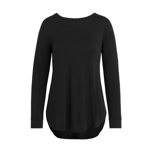 tasc Women's Jenny Long Sleeve Top Black_001
