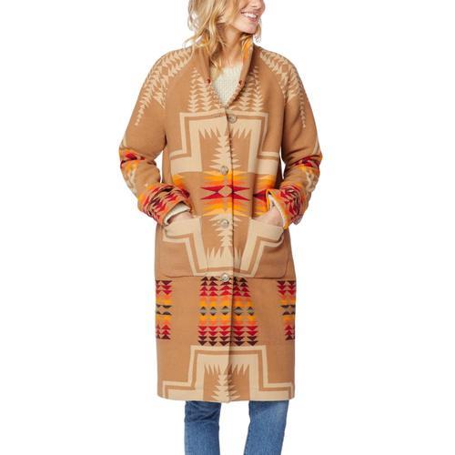 Pendleton Women's Harding Archive Blanket Coat Tan_15993
