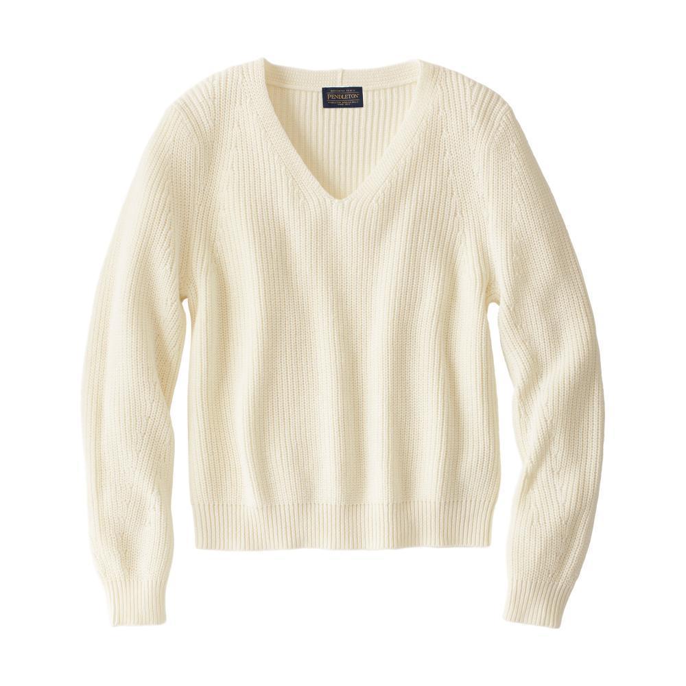 Pendleton Women's Emilie V-Neck Sweater  ANTQWHITE_73426