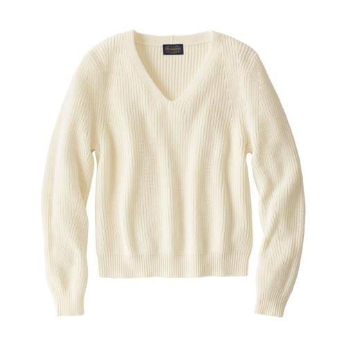 Pendleton Women's Emilie V-Neck Sweater Antqwhite_73426