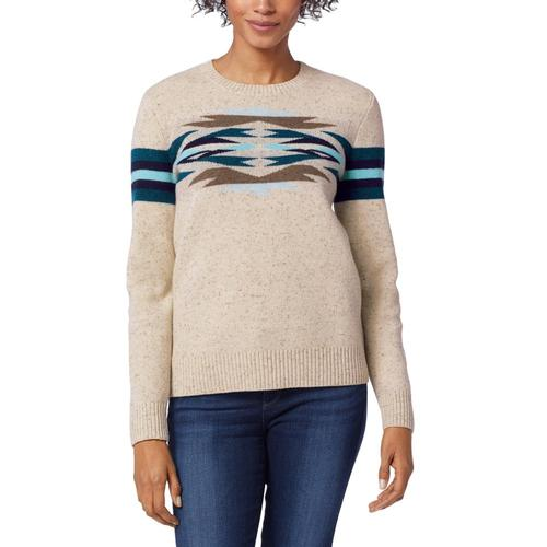 Pendleton Women's Desert Gem Wool Sweater Sand_73736