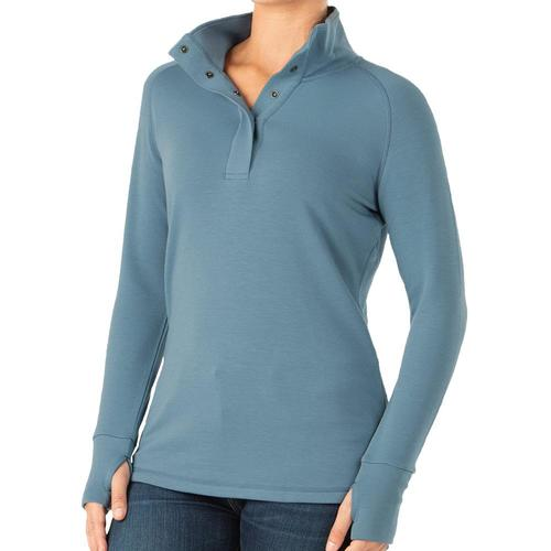 Free Fly Women's Bamboo Thermal Fleece Pullover Atlantic_106