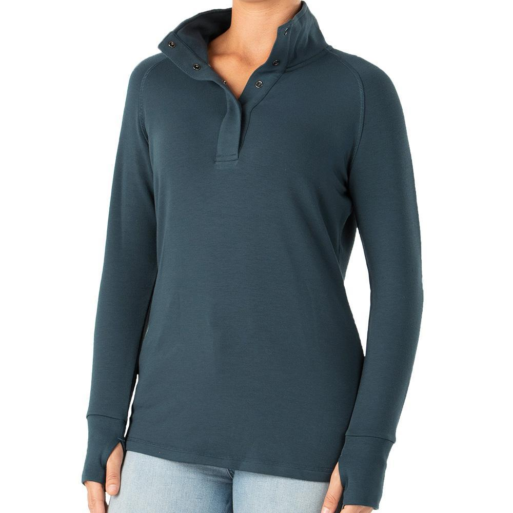Free Fly Women's Bamboo Thermal Fleece Pullover DUSK_107