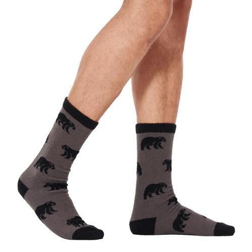UGG Men's Clint Novelty Crew Socks Black_blk