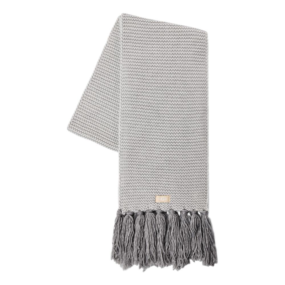 UGG Women's Chunky Knit Scarf with Fringe LGREY_LGRY