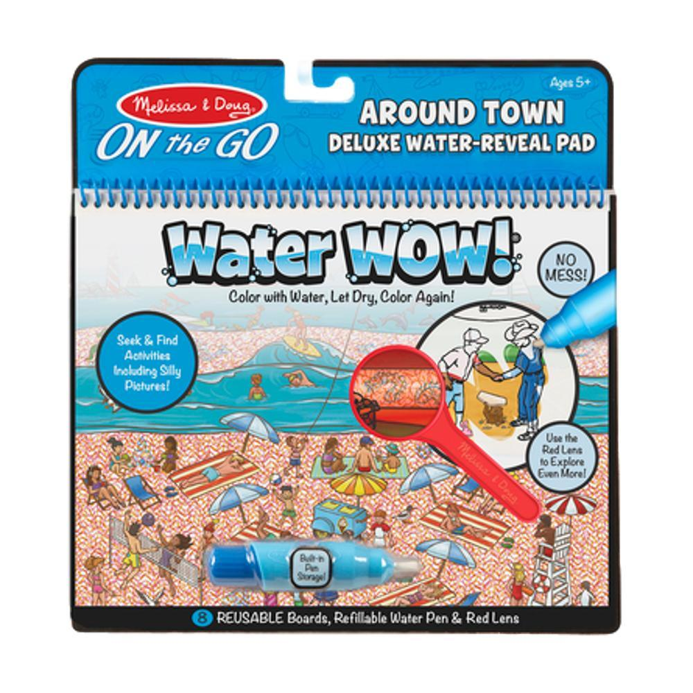 Melissa & Doug On The Go Travel Activity Water Wow! Around Town Deluxe Water- Reveal Pad