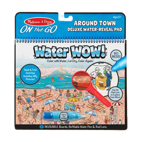 Melissa & Doug On the Go Travel Activity Water Wow! Around Town Deluxe Water-Reveal Pad