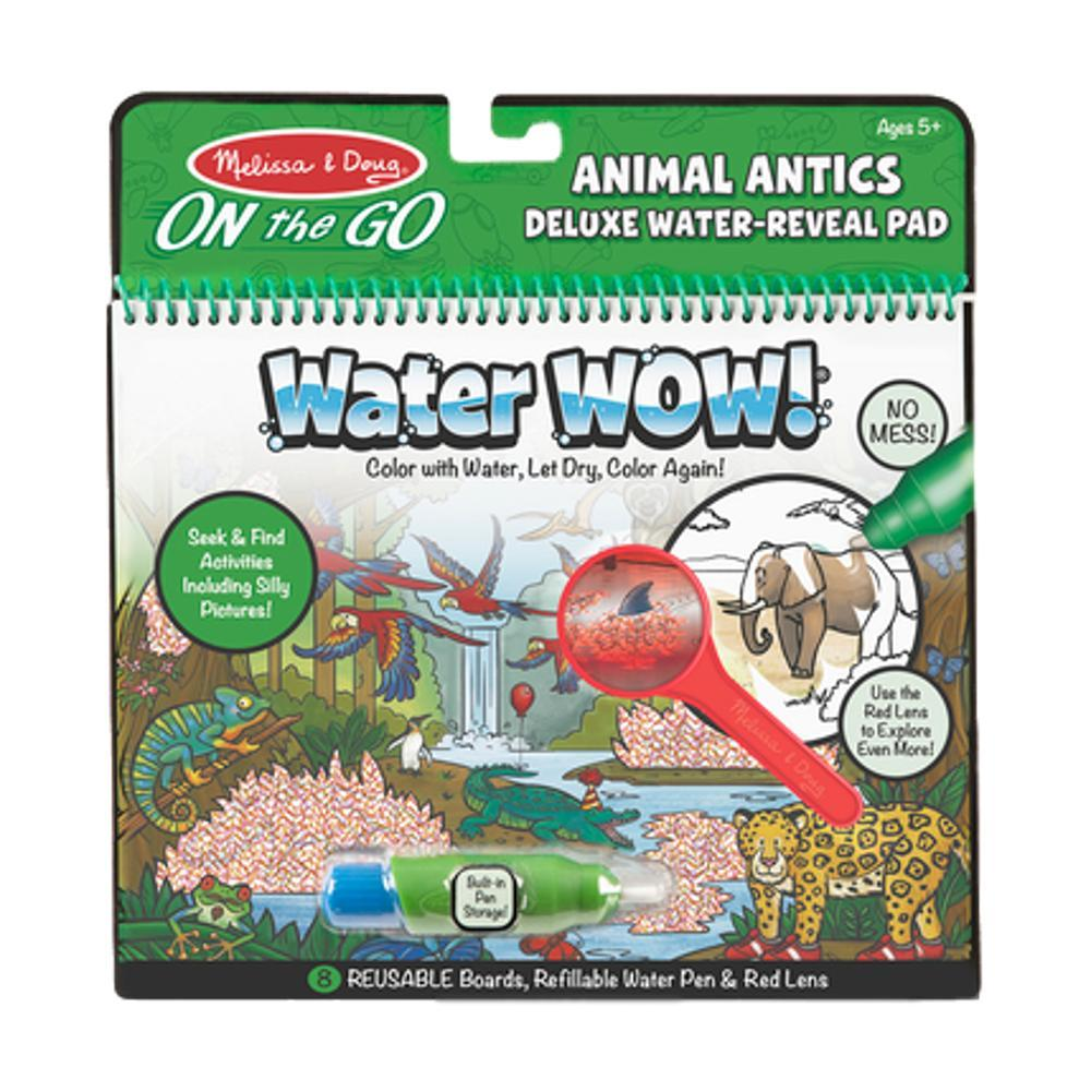 Melissa & Doug On The Go Travel Activity Water Wow! Animal Antics Deluxe Water- Reveal Pad