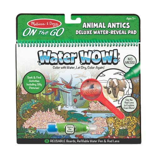 Melissa & Doug On the Go Travel Activity Water Wow! Animal Antics Deluxe Water-Reveal Pad