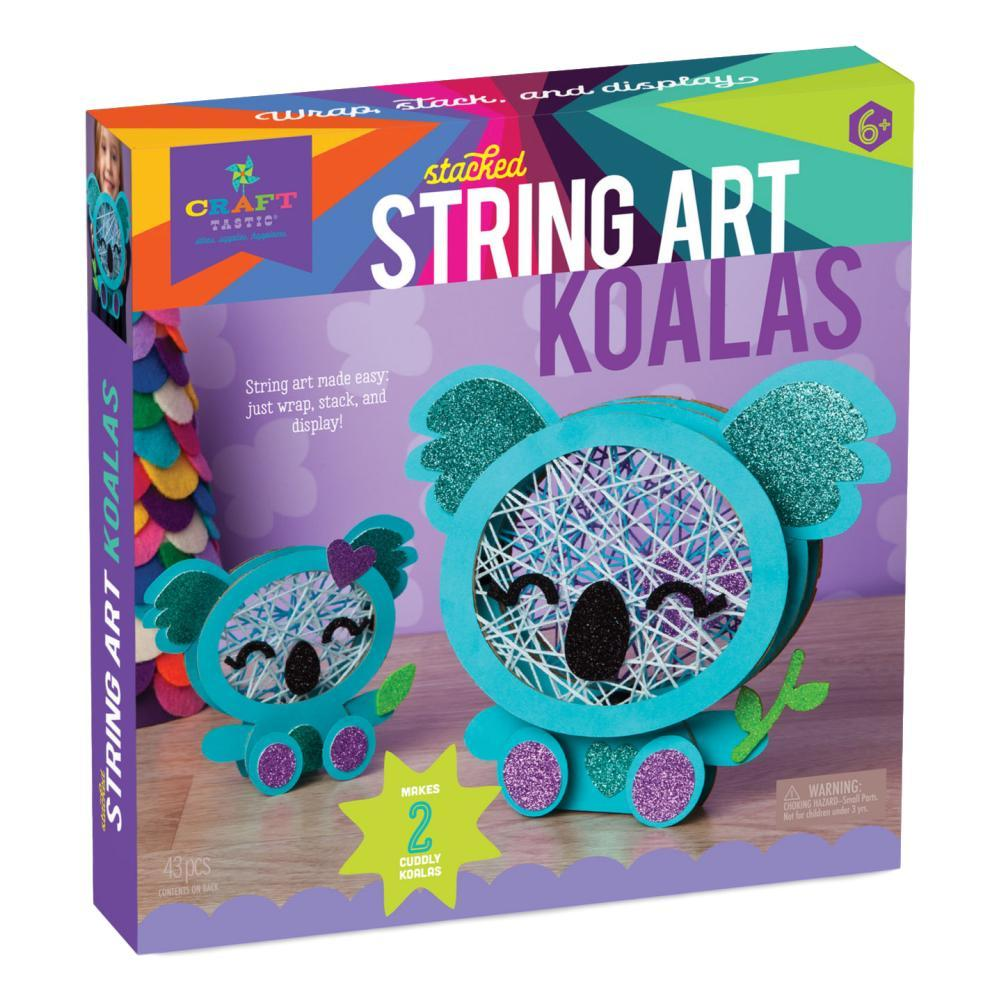 Craft- Tastic Stacked String Art Koalas Kit