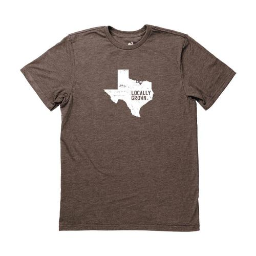 Locally Grown Men's Texas Solid State Tee Chocolate