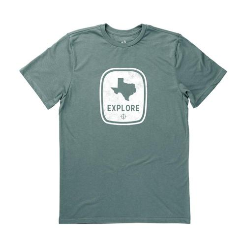 Locally Grown Men's Texas Explore Tee Forest
