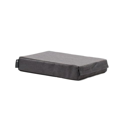 Halfmoon Chip Foam Yoga Block with Cover Charcoal
