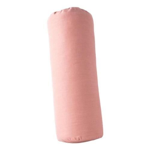 Halfmoon Cylindrical Bolster - Limited Edition Rose_clay_linen