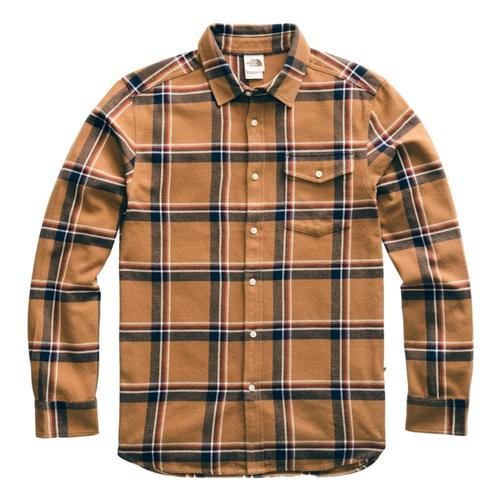The North Face Men's Long Sleeve Arroyo Flannel Shirt Brwngully_ge5