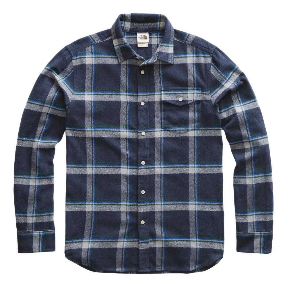 The North Face Men's Long Sleeve Arroyo Flannel Shirt NAVYGULLY_GE7