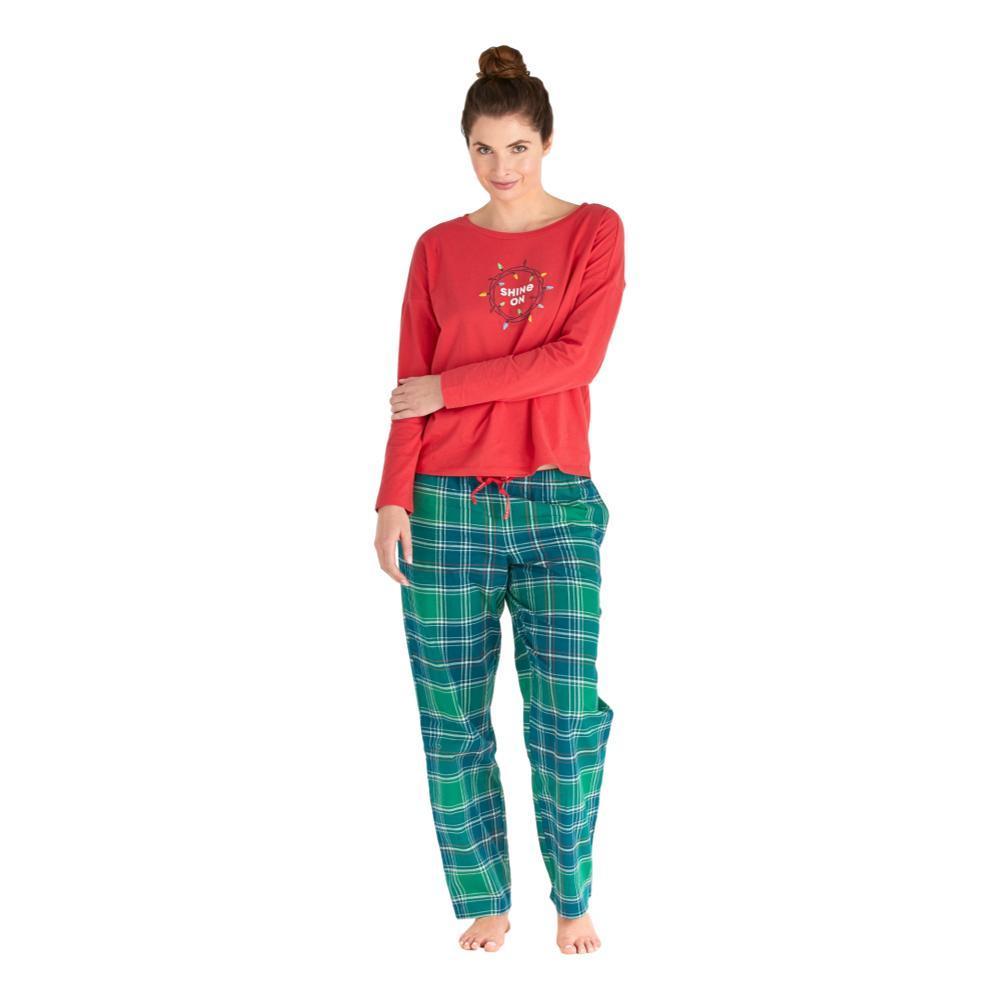 Life is Good Women's Fresh Pine Plaid Classic Sleep Pants FRESHPINE
