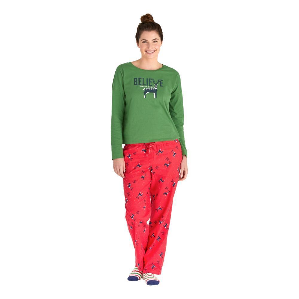 Life is Good Women's Reindeer Snow LIG Classic Sleep Pants  AMERICANA