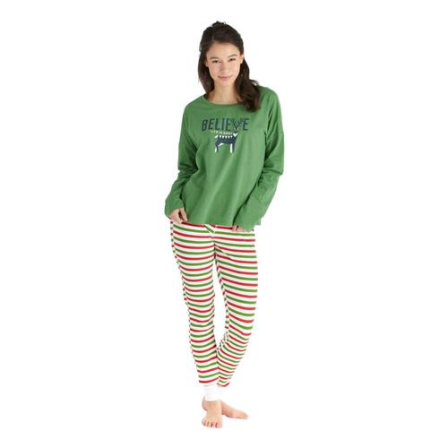 Life is Good Women's Holiday Stripe Holiday Squad Thermal Sleep Pants Stripe