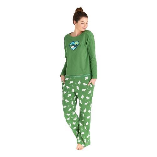 Life is Good Women's Polar Bear LIG Snuggle Up Sleep Pants Freshpine