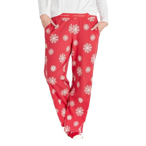 Life is Good Women's Heart Snowflakes Snuggle Up Sleep Pants Americana