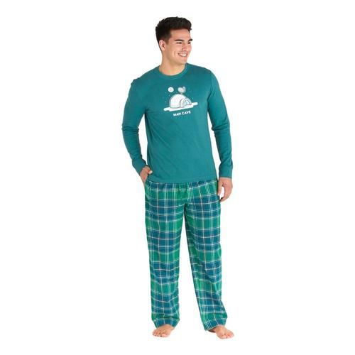 Life is Good Men's Fresh Pine Plaid Classic Sleep Pants Pineplaid