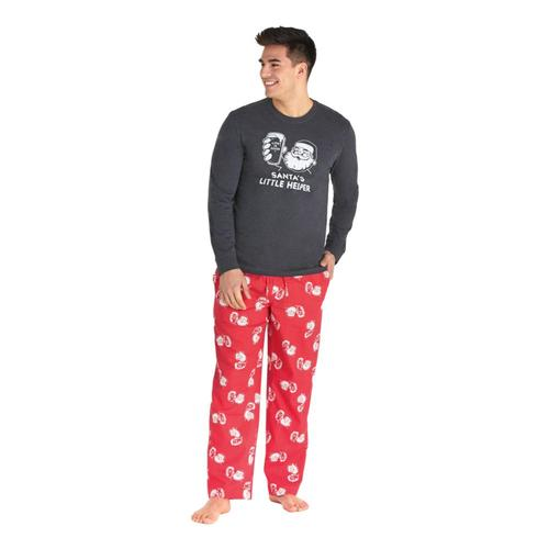 Life is Good Men's Santa's Helper Classic Sleep Pants Amerired
