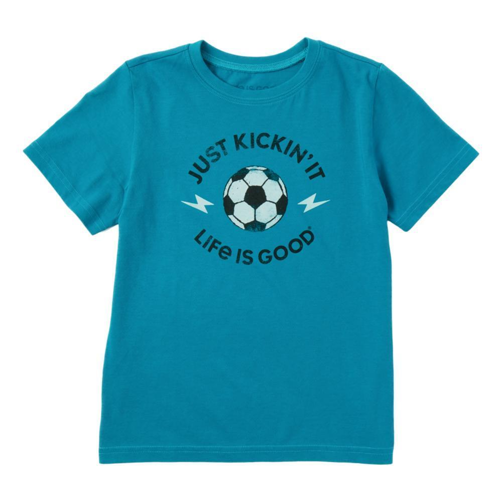 Life Is Good Boys Just Kickin' It Crusher Tee Shirt SEABLUE