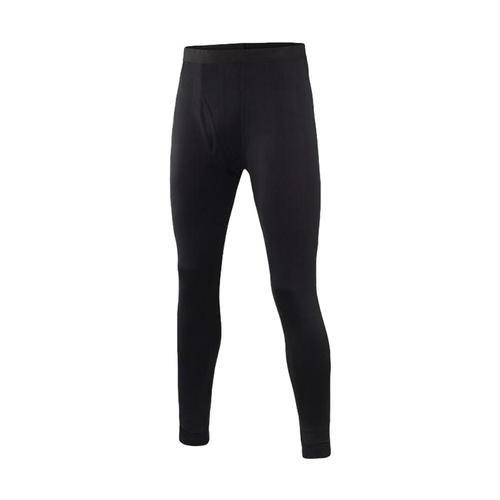 Terramar Men's Thermasilk Jersey Bottoms Black