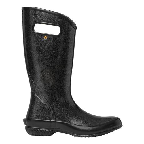 Bogs Women's Glitter Rain Boots BLACK_010