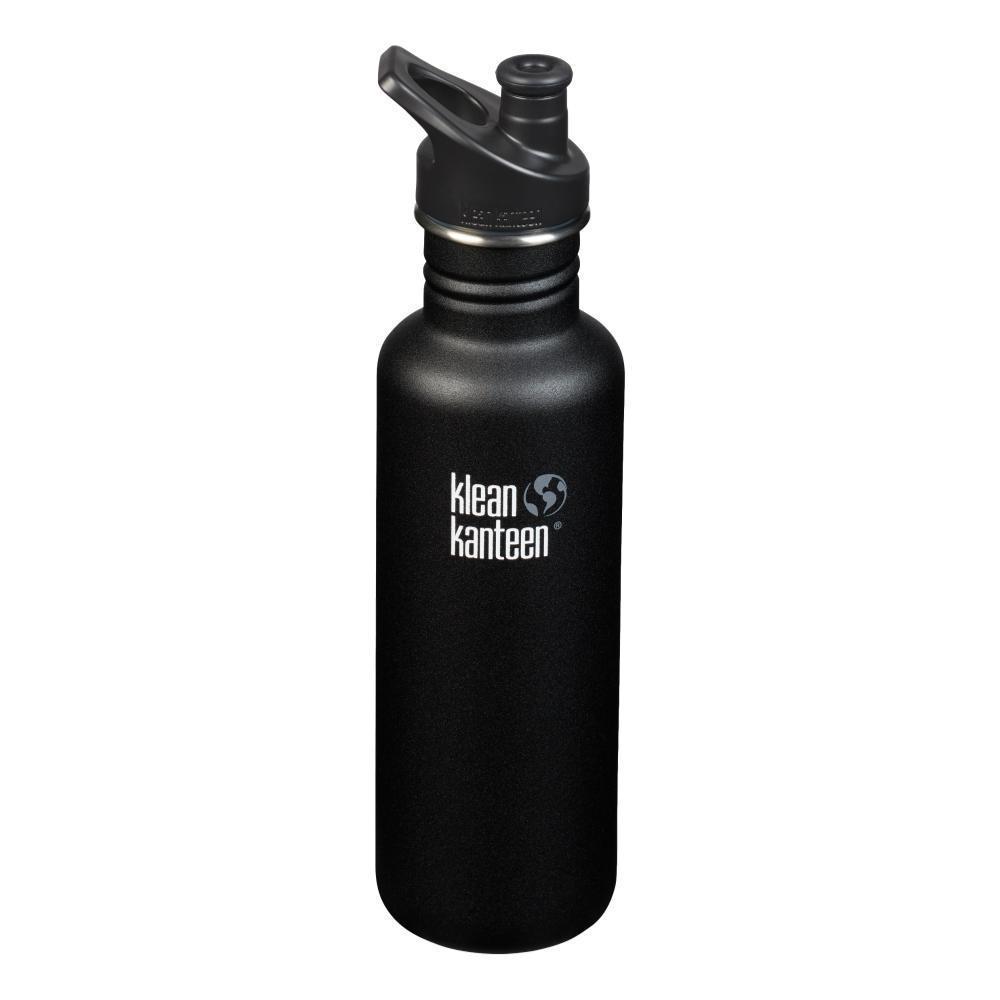 Klean Kantean Classic Bottle w/Sport Cap - 27oz SHALE_BLACK