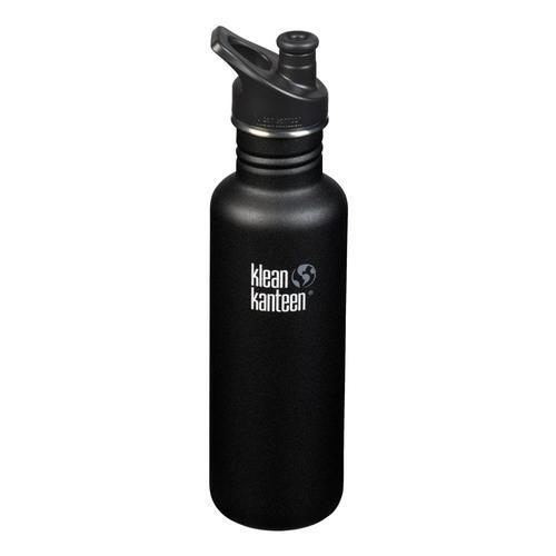 Klean Kanteen Classic Bottle w/Sport Cap - 27oz Shale_black
